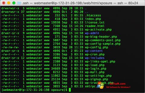 צילום מסך Wget Windows 7