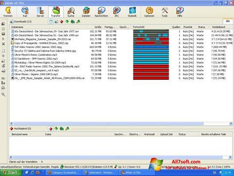 צילום מסך eMule Windows 7