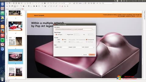 צילום מסך Master PDF Editor Windows 7