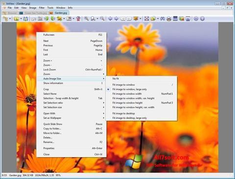 צילום מסך XnView Windows 7