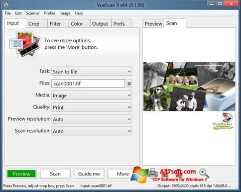 צילום מסך VueScan Windows 7
