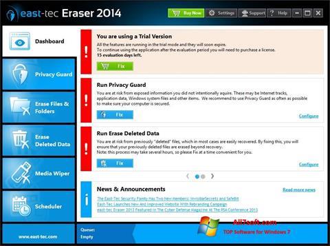 צילום מסך East Tec Eraser Windows 7