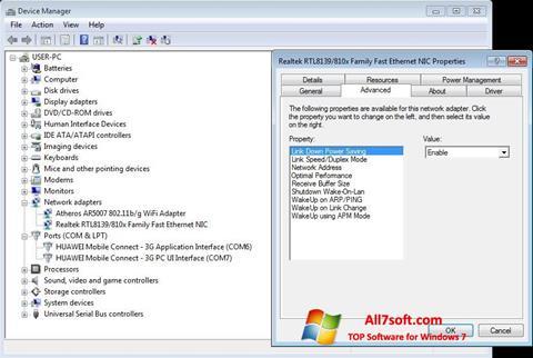 צילום מסך REALTEK RTL8139 Windows 7