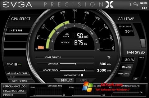 צילום מסך EVGA Precision X Windows 7
