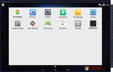 צילום מסך Nox App Player Windows 7
