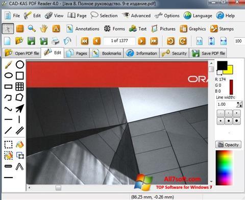 צילום מסך PDF Reader Windows 7