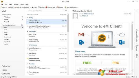 צילום מסך eM Client Windows 7