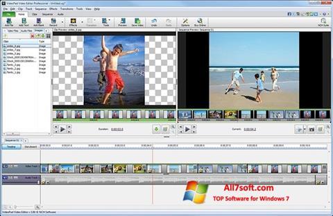 צילום מסך VideoPad Video Editor Windows 7