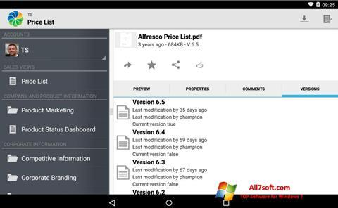 צילום מסך Alfresco Windows 7