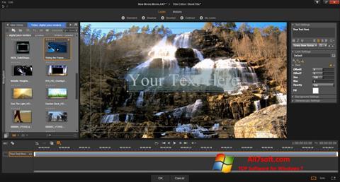 צילום מסך Pinnacle Studio Windows 7