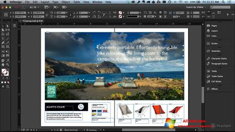 צילום מסך Adobe InDesign Windows 7