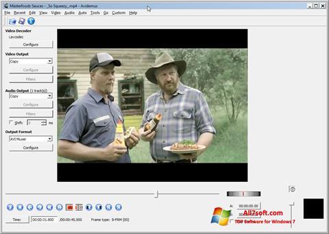 צילום מסך Avidemux Windows 7