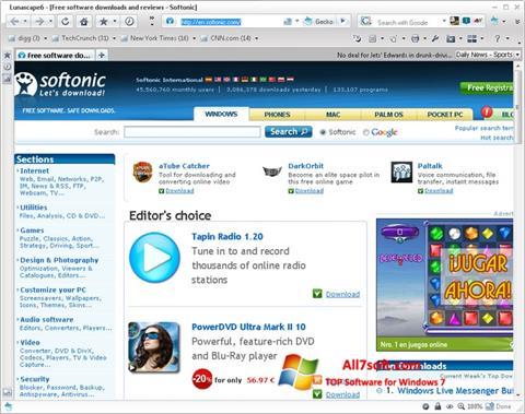 צילום מסך Lunascape Windows 7