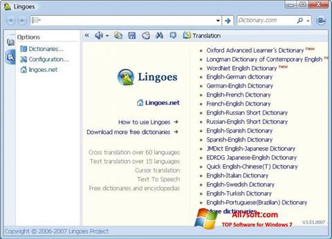 צילום מסך Lingoes Windows 7