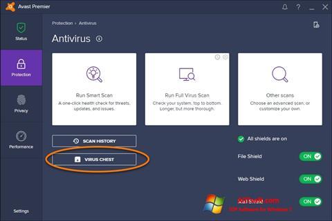 צילום מסך Avast Windows 7