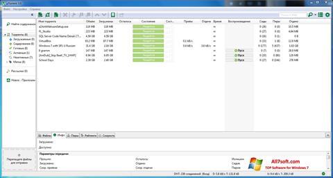 צילום מסך uTorrent Windows 7