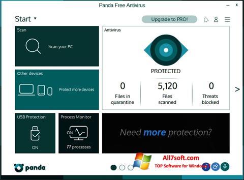 צילום מסך Panda Windows 7