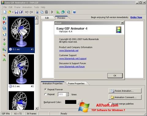 צילום מסך Easy GIF Animator Windows 7