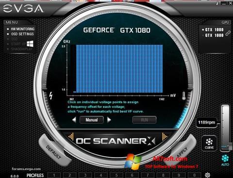 צילום מסך EVGA Precision Windows 7