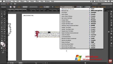 צילום מסך Adobe Illustrator Windows 7
