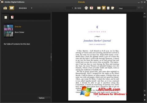 צילום מסך Adobe Digital Editions Windows 7