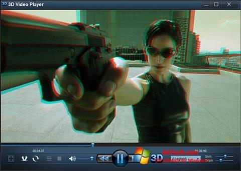 צילום מסך 3D Video Player Windows 7