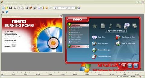 צילום מסך Nero Burning ROM Windows 7