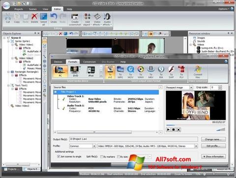צילום מסך Free Video Editor Windows 7