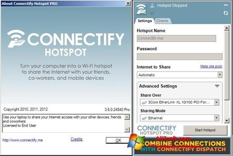 צילום מסך Connectify Windows 7