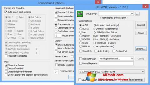 צילום מסך UltraVNC Windows 7