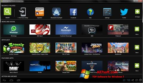 צילום מסך BlueStacks Windows 7