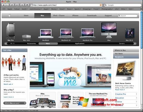 צילום מסך Safari Windows 7