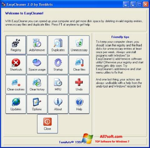 צילום מסך EasyCleaner Windows 7
