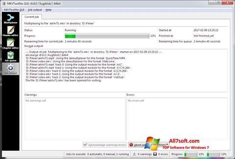 צילום מסך MKVToolnix Windows 7