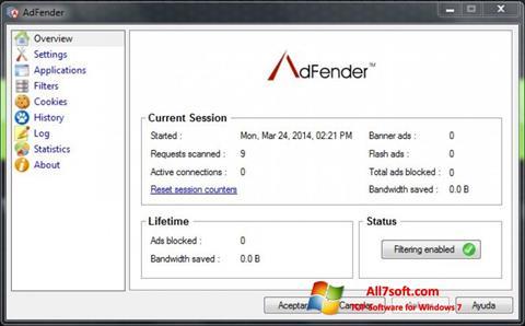 צילום מסך AdFender Windows 7