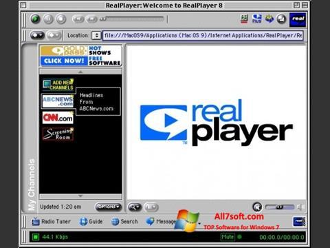 צילום מסך RealPlayer Windows 7