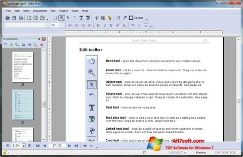 צילום מסך Infix PDF Editor Windows 7