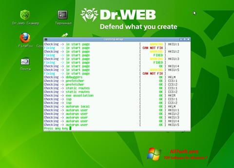 צילום מסך Dr.Web LiveCD Windows 7