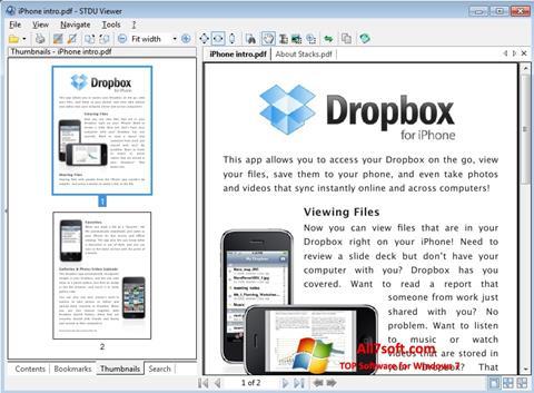 צילום מסך STDU Viewer Windows 7