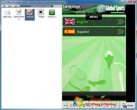 צילום מסך YouWave Windows 7
