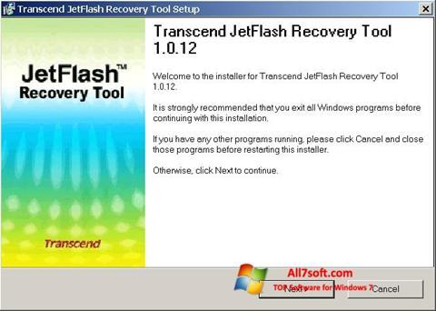 צילום מסך JetFlash Recovery Tool Windows 7