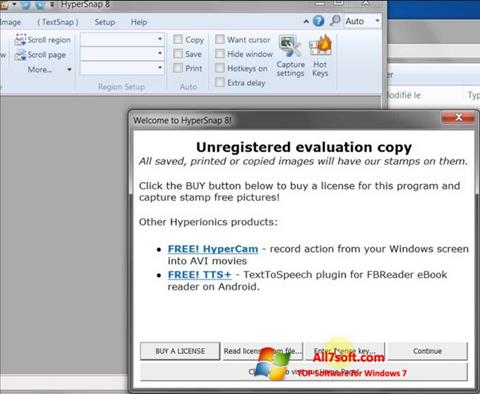 צילום מסך HyperSnap Windows 7
