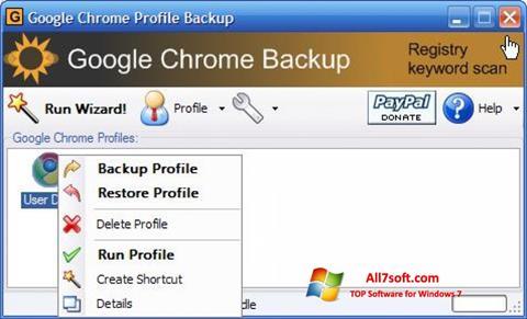 צילום מסך Google Chrome Backup Windows 7