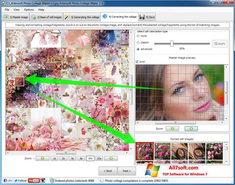 צילום מסך Photo Collage Windows 7