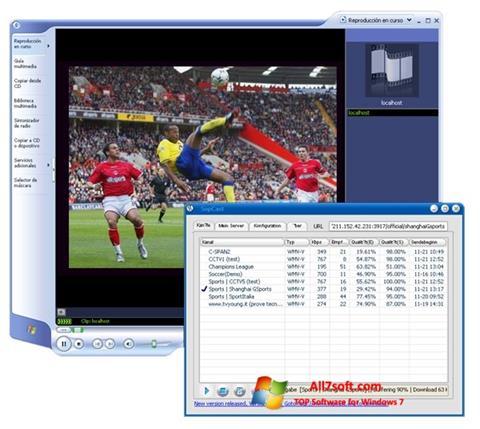 צילום מסך SopCast Windows 7