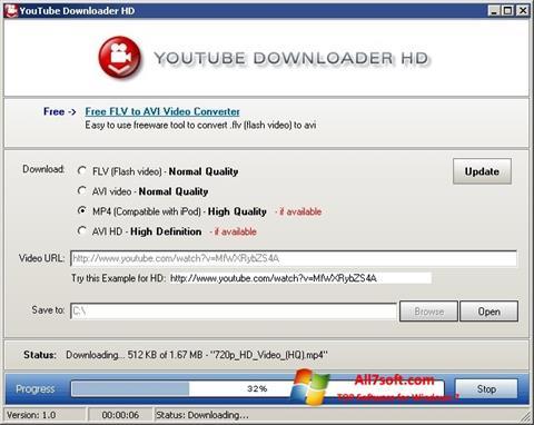 צילום מסך Youtube Downloader HD Windows 7