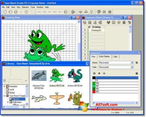 צילום מסך Toon Boom Studio Windows 7