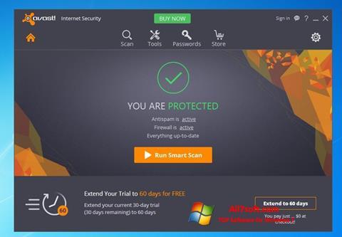 צילום מסך Avast Internet Security Windows 7