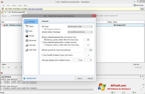 צילום מסך GoodSync Windows 7