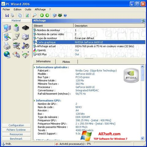 צילום מסך PC Wizard Windows 7